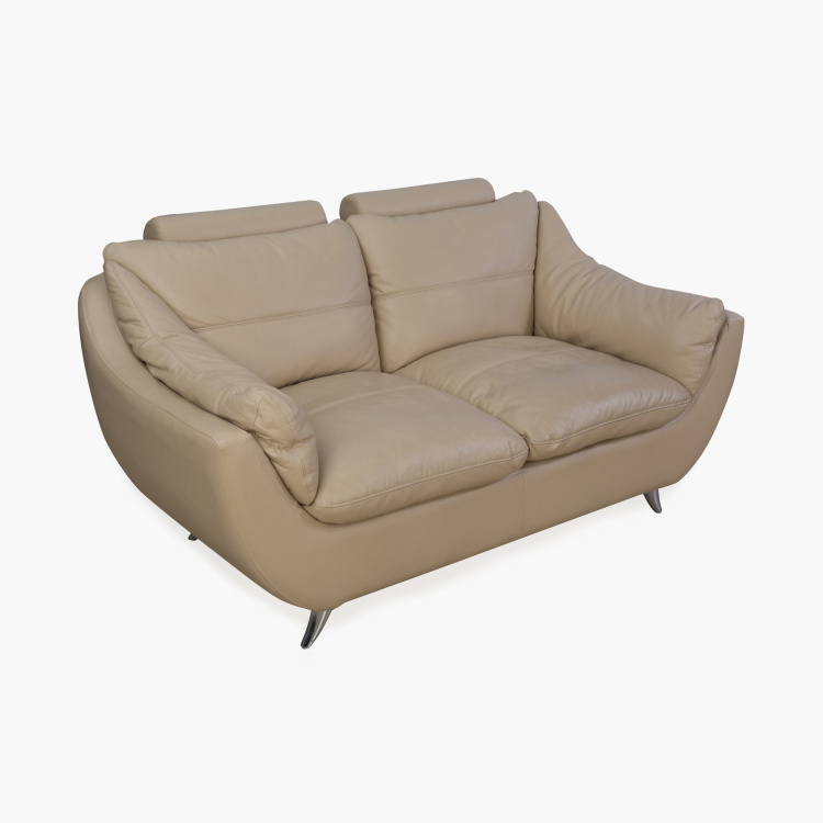 Brookfield Half Leather Sofa- 2 Seater Beige