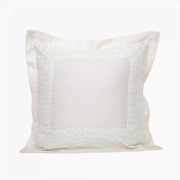 Maspar Sapphire Embroidered Pillow Covers - Set of 2 - 60 x 60 cm
