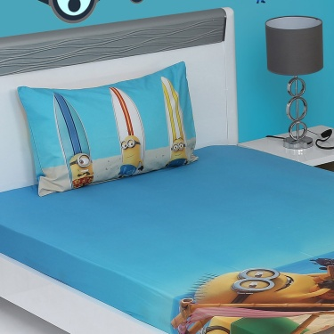 SPACES Minions Single Bedsheet Set- 2 Pcs.