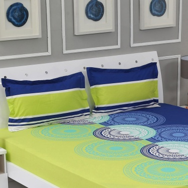 Harold 3-Pc. Printed Double Bedsheet Set - 228 X 254 cm