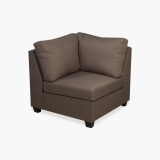 Signature Arden Fabric Corner Sofa Brown