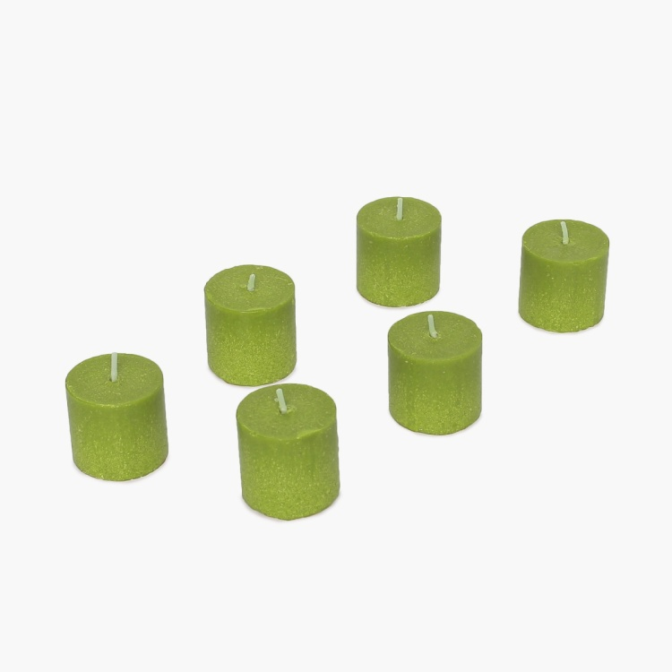 Colour Connect Votive Candle Set-6 Pcs. Green Apple