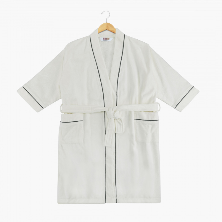 SPACES Unisex Cotton Free Size Kimono Bathrobe