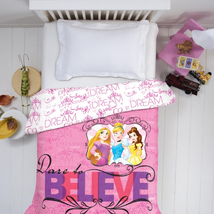 SPACES Disney Princess Print Single Quilt Bedsheet - 152 x 220 cm