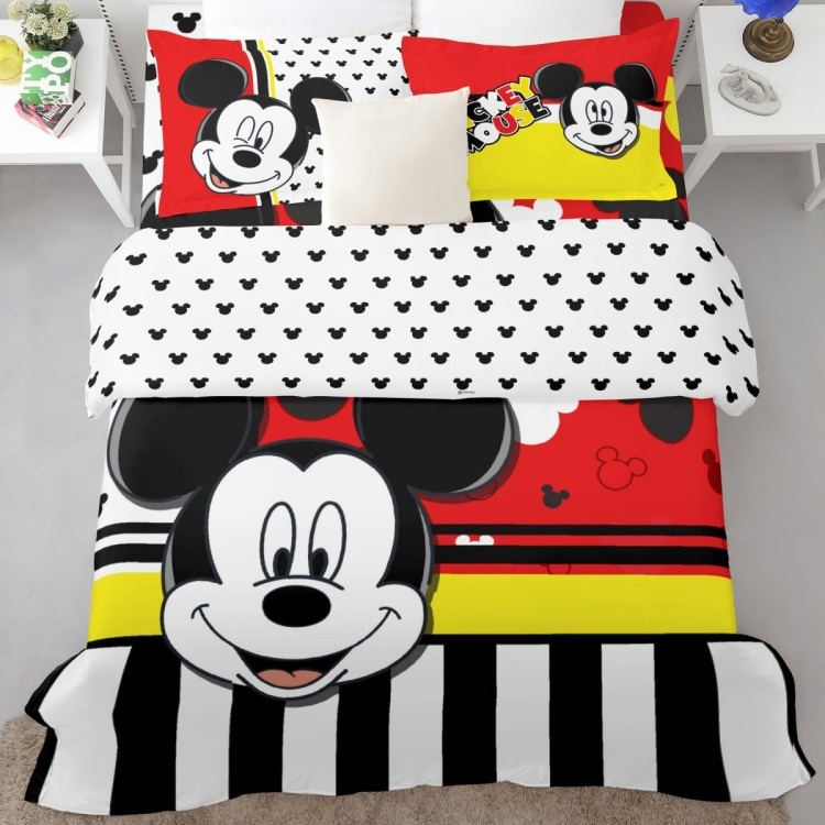 SPACES Mickey Print 3-Piece Double Bedding Set - 228 x 274 cm