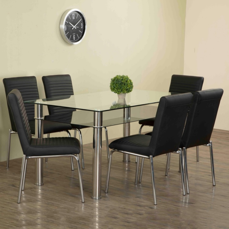 Floris Faux Leather Dining Chair- Set Of 6 Pcs.