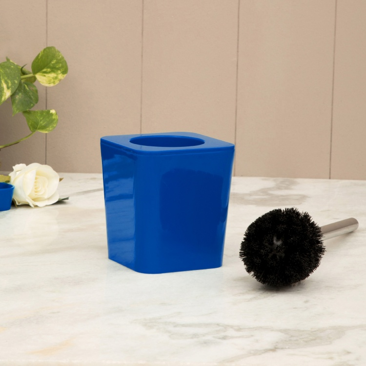 HILDA JASMINE Solid Plastic Square Toilet Brush Holder