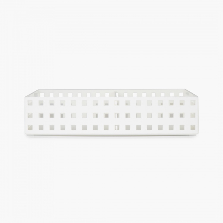 REGAN ASHLEY Solid Stackable Storage Box With Separator
