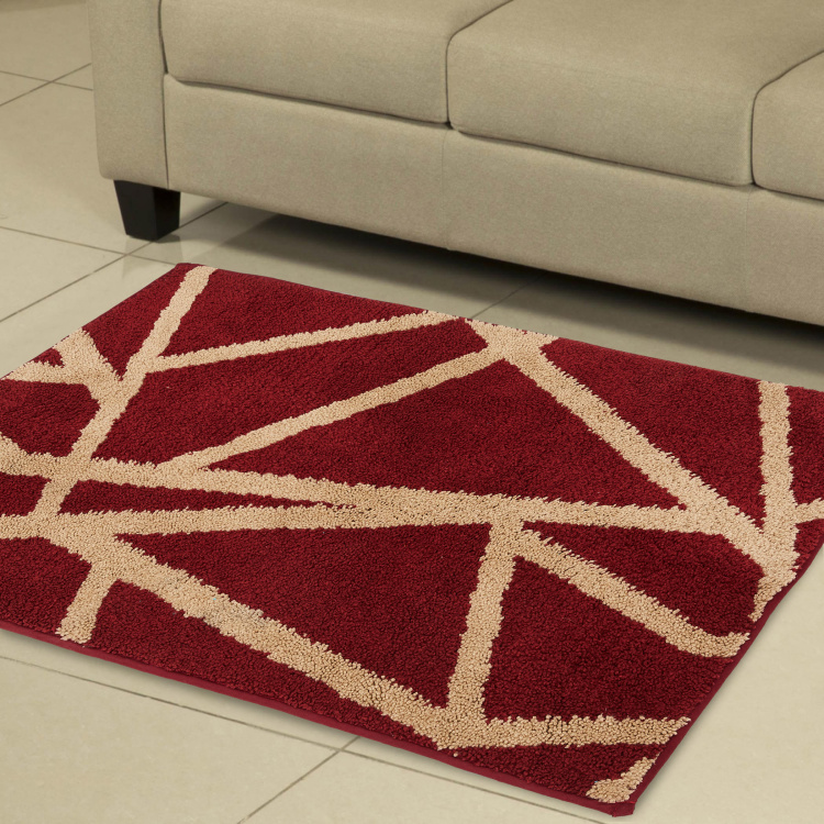 Exotica Oogee Geometric Microfiber Tufted Rug- 90 x 60 cm