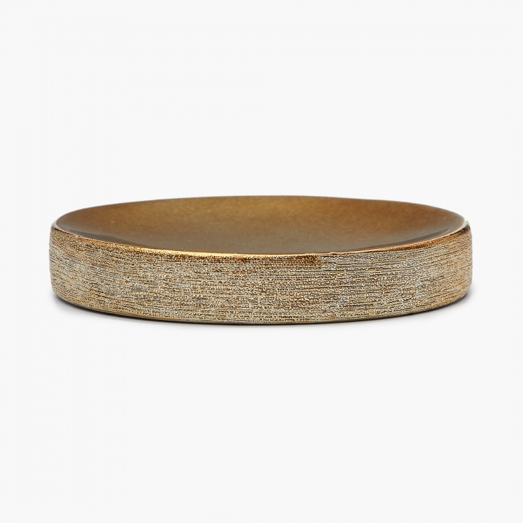 Hudson Ellery Textured Ceramic Oval Soap Dish