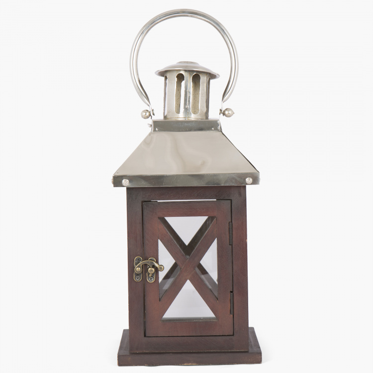 Selena Beacon Wooden Square Lantern