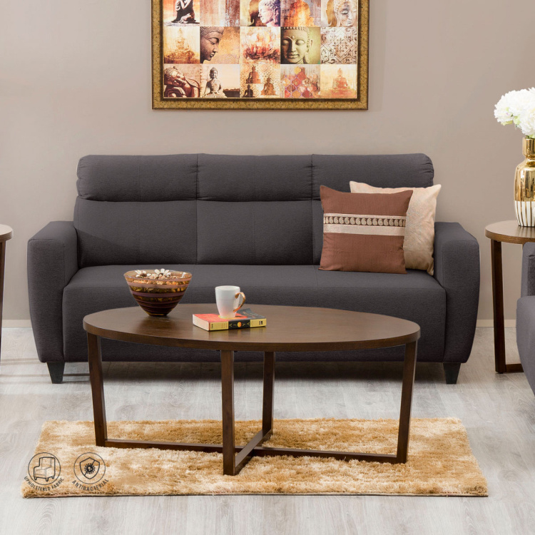 Emily Fabric Sofa 3 Seater Brown