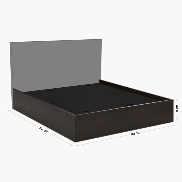 Montoya Box Storage King Size Bed - 39 x 188 x 200 cm