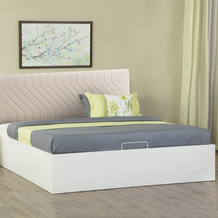 Crystal Hydraulic Storage Queen Size Bed