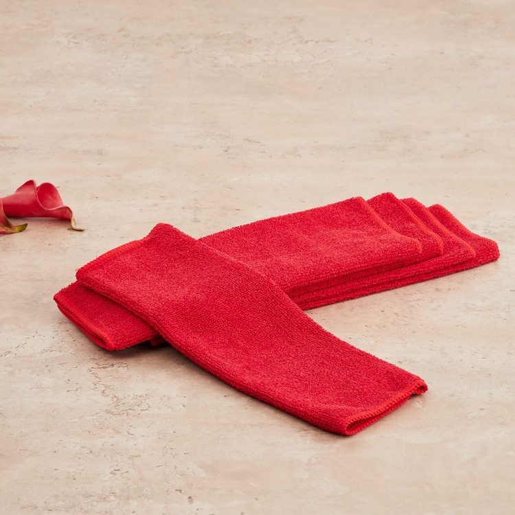 Indus Solid Cotton Cleaning Cloth - Set of 5 Pcs.