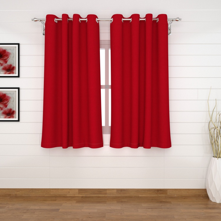 Seirra Solid Textured Semi-Blackout Window Curtains - Set of 2 - 110 x 160 cm