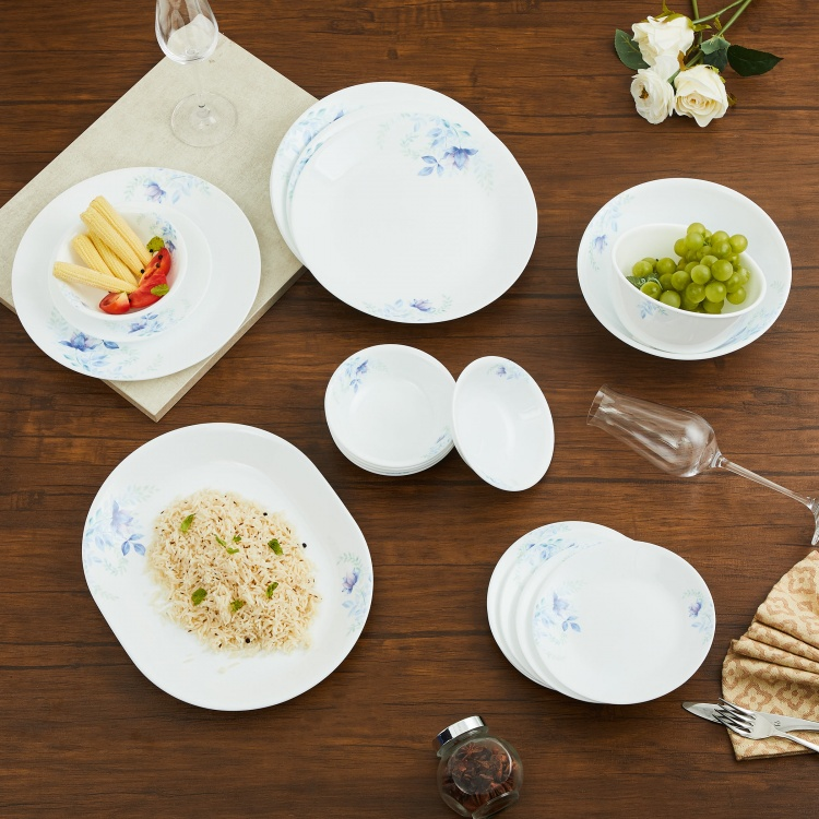 Corelle Blue Floral Dinner Set - 21 Pcs.