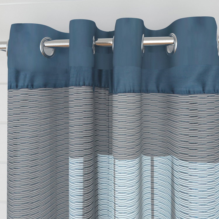 Colour Connect Semi-Sheer Window Curtain Pair - 110 x 160 cm