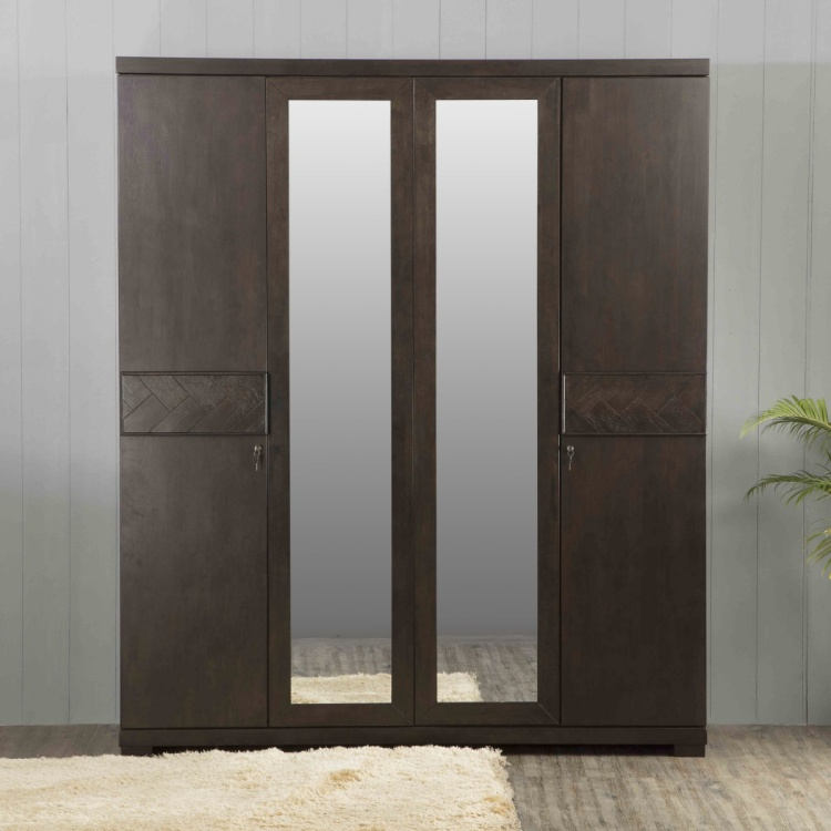 Petals Four-Door Hinged Wardrobe