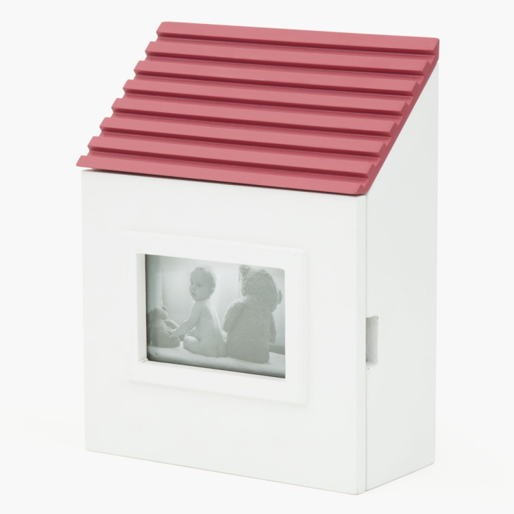 Casa Compressed Wood Deco Shelves With Keyholder and Photoframe