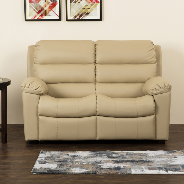 Petals Faux Leather Sofa- 2 Seater