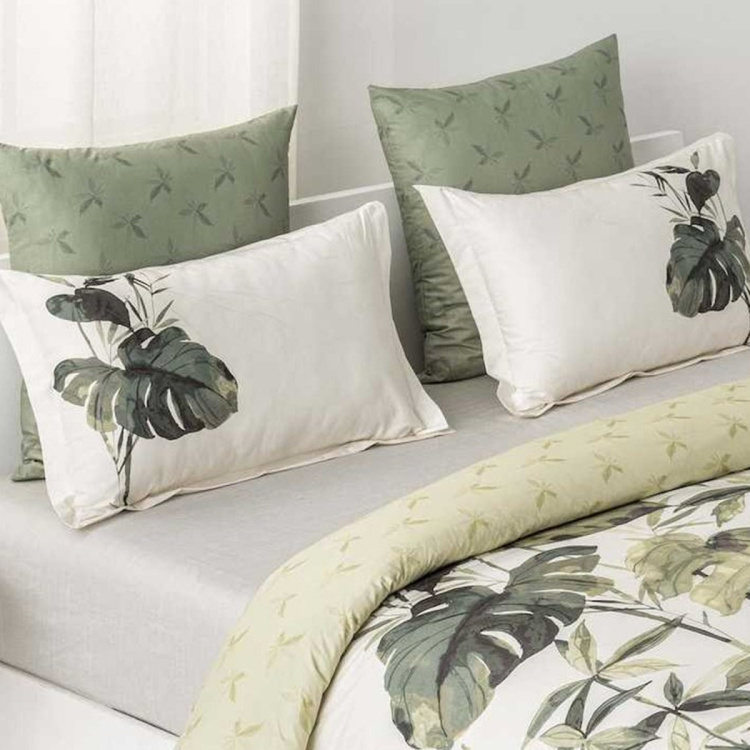 D'DECOR Cherish 3-Piece Printed Cotton King Size Bedding Set - 254 x 274 cm