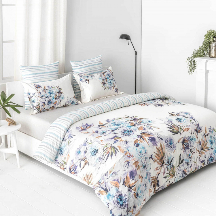 D'DECOR Esteem Printed Cotton King Size Bedsheet-Set Of 3 Pcs.