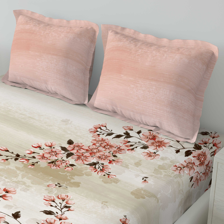 D'DECOR Premier Printed 3-Pc. Double Bedsheet Set - 229 x 274 cm