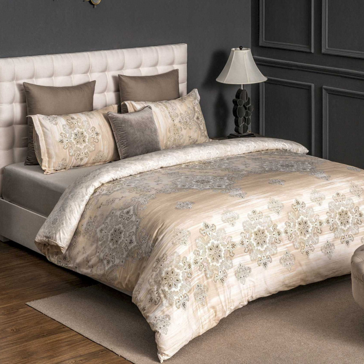 D'DECOR Premier Printed Cotton 4-Piece Bedding Set - 274 x 274 cm