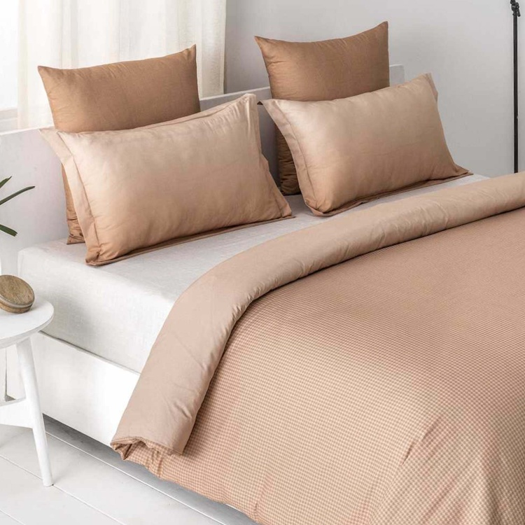 D'DECOR Highland Solid 3-Piece Bedsheet Set - 274 x 274 cm