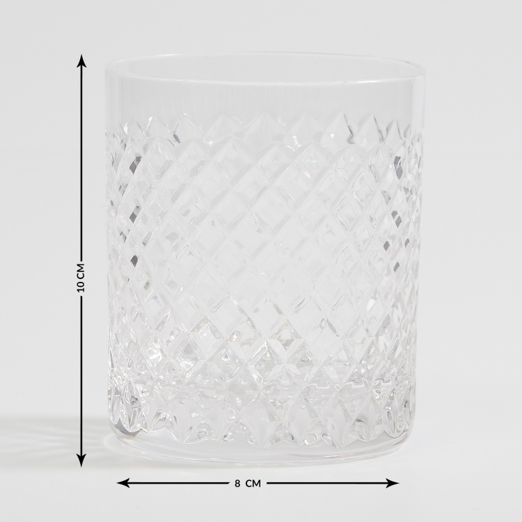 SOLITAIRE Cylinder Diamente Crystal Glasses - Set of 6