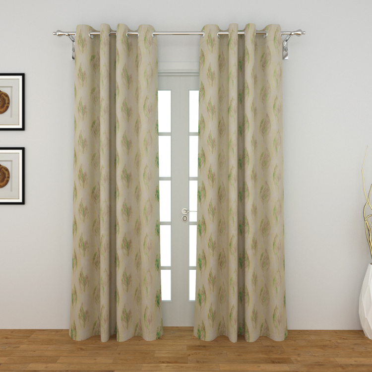Rhythm Printed Door Curtains - Set of 2 Pcs.