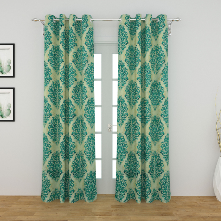 Rhythm Printed Blackout Door Curtains - Set of 2 Pcs.