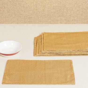 Malhar Sequinned Placemats - Set of 6 - 30 x 45 cm