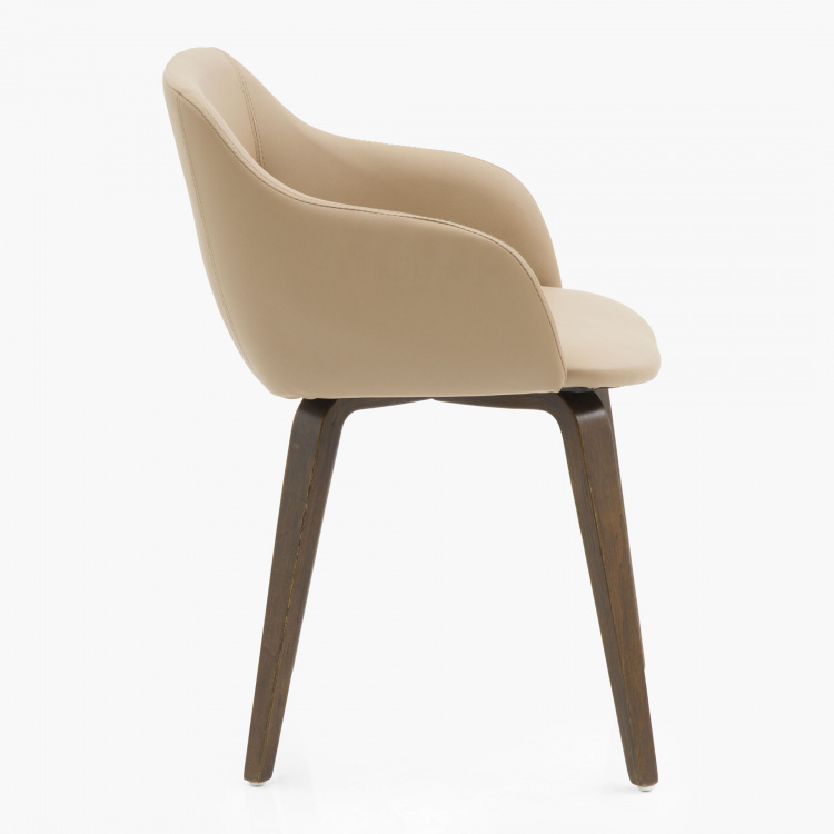 Colman Solid Wood Textured Chair