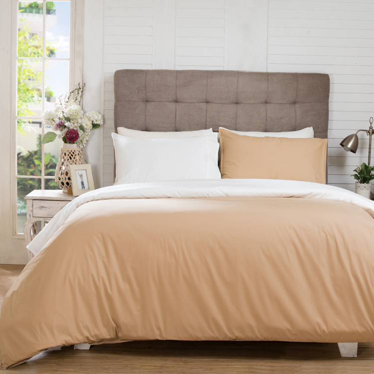 MASPAR Hannah 3-Pc. Solid Double Bed Duvet Cover- 220 x 240 cm