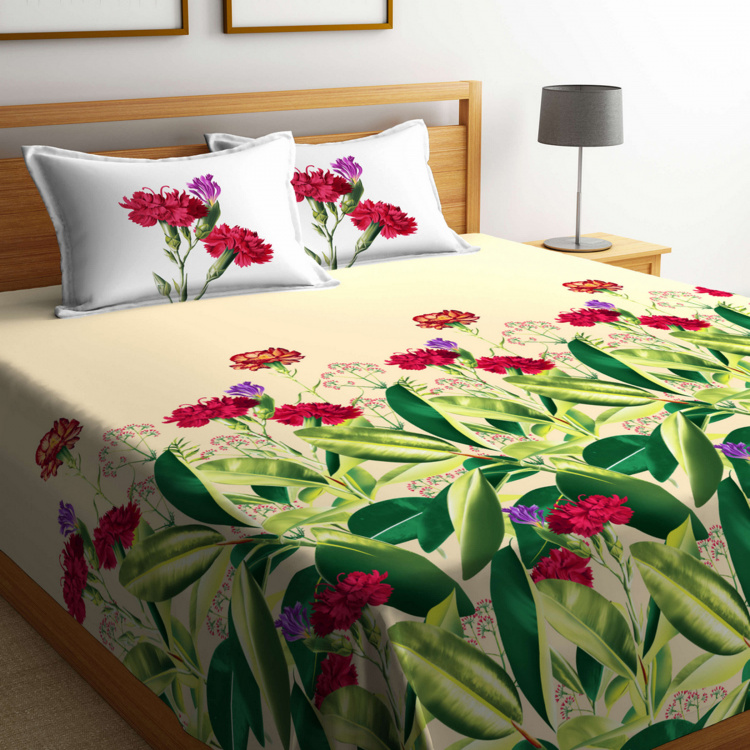 PORTICO Summer Love Printed 3-Piece Double Bedding Set - 254 x 274 cm