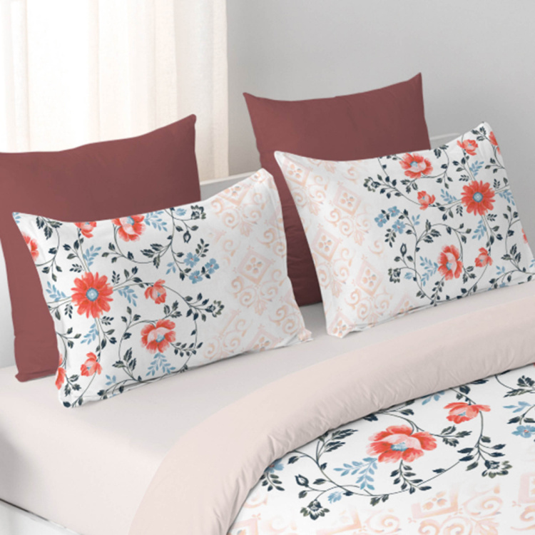 DDECOR Vista Printed Cotton 3-Piece Bedding Set - 229 x 274 cm