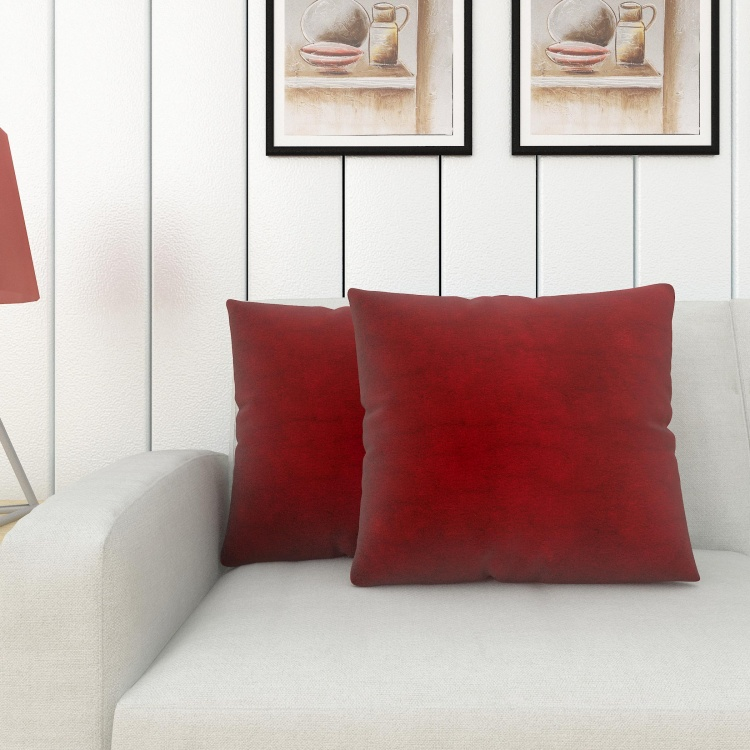 LUXUR SOLID Solid Filled Cushions - Set of 2 - 40 x 40 cm