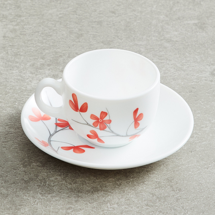 SOLITAIRE Printed Cup & Saucers - Set of 12