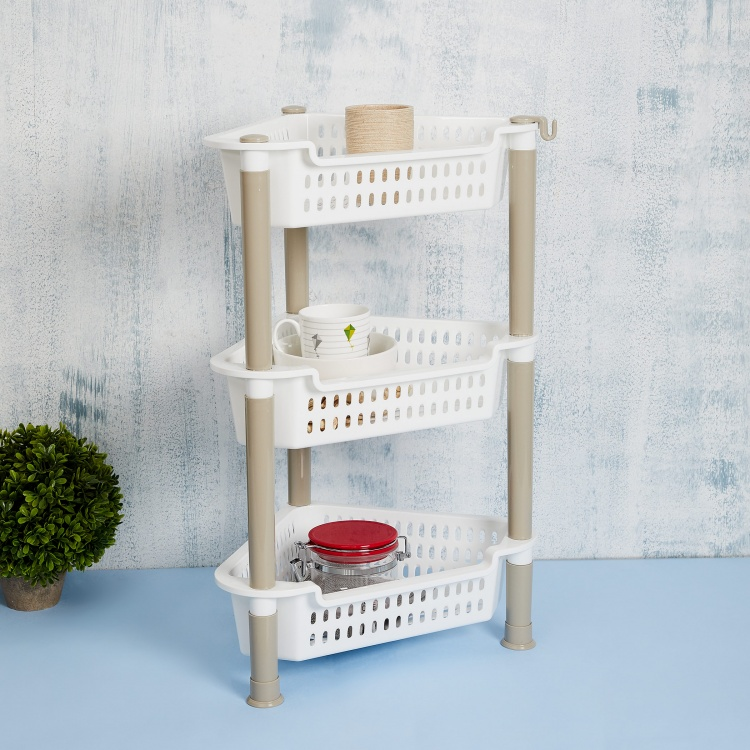 Omnia Jackson Shelves Solid Corner Rack