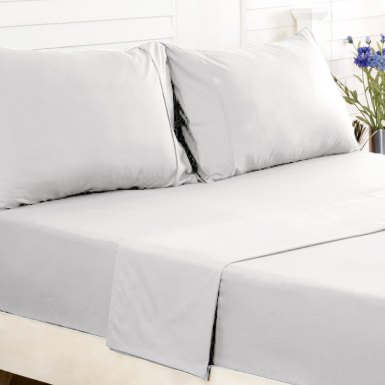 MASPAR Solid 2-Piece Single Fitted Sheet Set - 91 x 183 cm