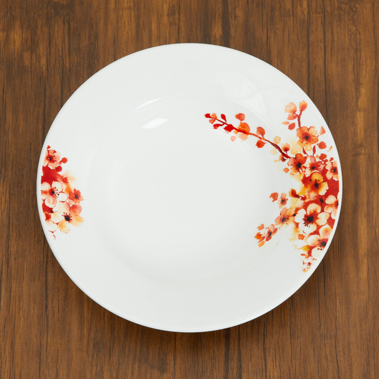 Lucas-Floreale Printed Round Bone China Soup Plate
