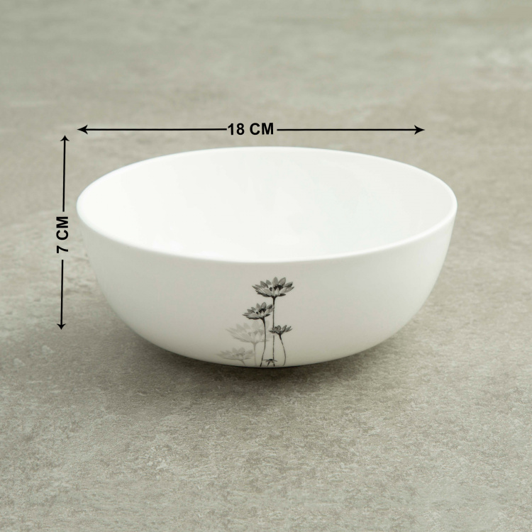 Floral Print Bone China Serving Bowl