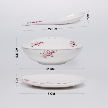 Victor-Ami Printed 31-Piece Dinner Set