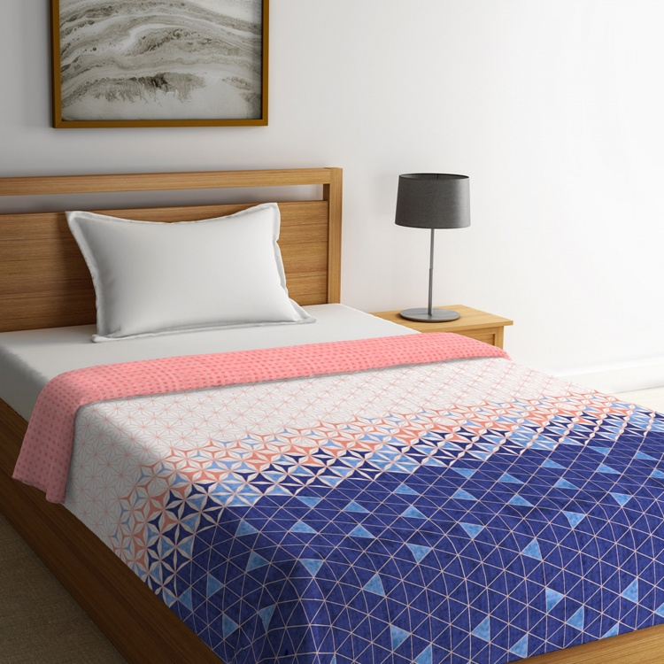 Cadence Printed Single-Bed Quilted Comforter - 152 x 224 cm