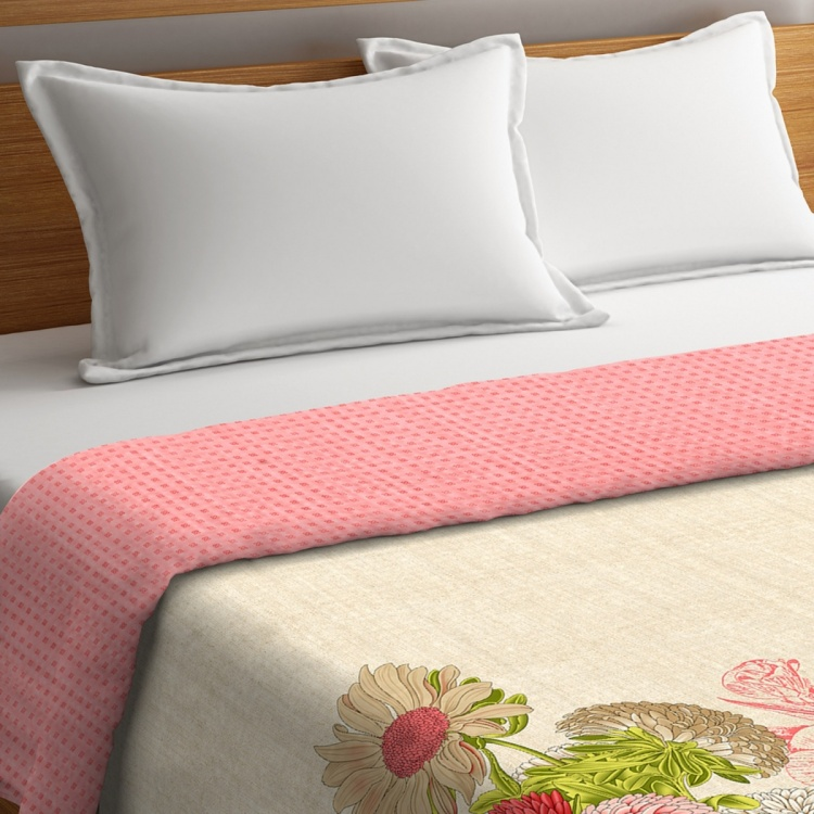 Cadence Printed King-Size Quilted Double Comforter - 224 x 274 cm