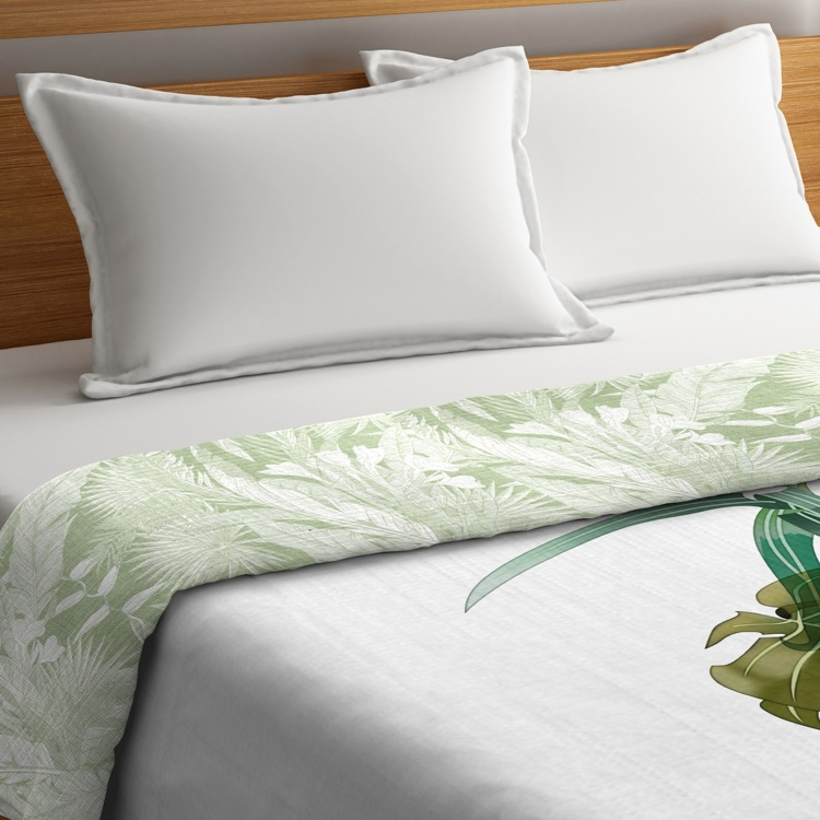 PORTICO Rain Forest Printed Cotton King Comforter - 224 x 274 cm
