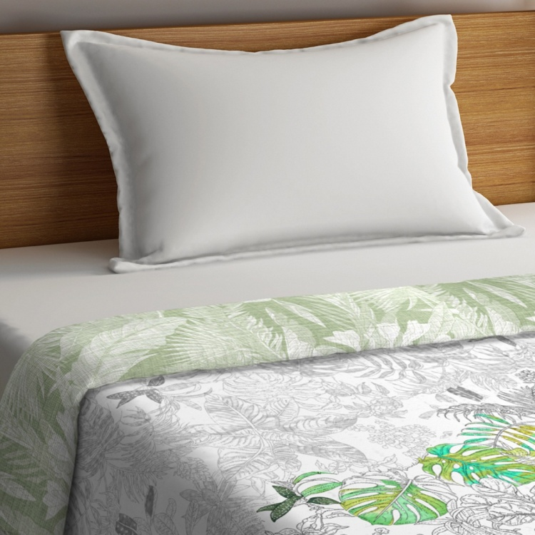 PORTICO Rain Forest Printed Cotton Single Bed Comforter - 152 x 224 cm