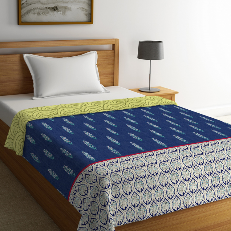 PORTICO Shalimaar Printed Cotton Single Bed Comforter - 150 x 224 cm
